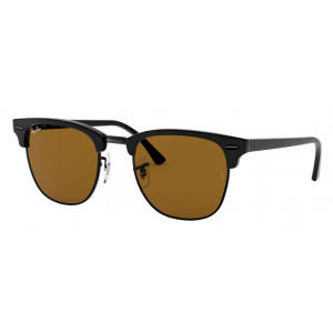 Ray-Ban Clubmaster Classic Black/Silver Brown Classic B-15