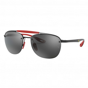 Ray-Ban RB3662M Scuderia Ferrari Collection Noir/Rouge Gris Miroir