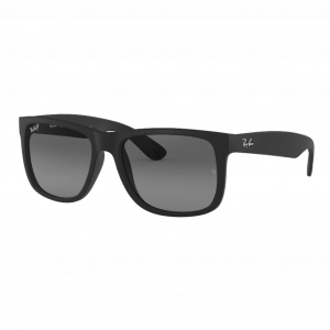 Ray-Ban Justin Rubber Black Gris Dégradé Polarisé