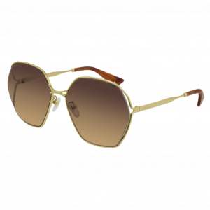 Gucci GG0818SA Gold Brown Gradient - Fall/Winter 2020/2021 Collection