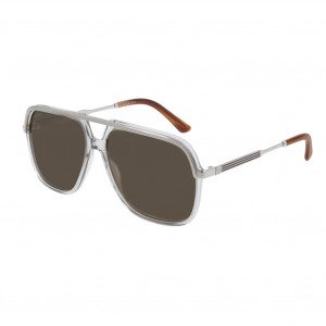 Gucci GG0200S Grey/Silver Brown