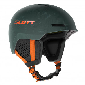 Casque Scott Track Plus Sombre Green/Pumpkin Orange MIPS