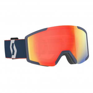 Scott Ski Goggle Shield Retro Blue/Red Enhancer Red Chrome - 2 lenses
