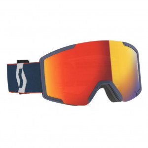 Scott Ski Goggle Shield Sombre Green/Pumpkin Orange Enhancer Blue Chrome