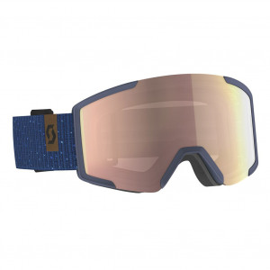 Scott Ski Goggle Shield Dark Blue/Majolica Blue Enhancer Rose Chrome