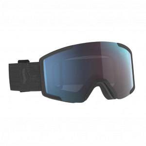 Scott Ski Goggle Shield Black Enhancer Blue Chrome