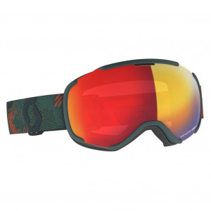 Scott Ski Goggle Faze II Sombre Green/Pumpkin Orange Enhancer Red Chrome