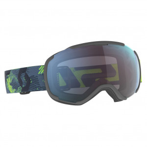 Scott Ski Goggles Faze II Ultralime Green/Storm Grey Enhancer Blue Chrome