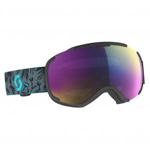 Scott Ski Goggle Faze II Black/Cyan Blue Enhancer Teal Chrome