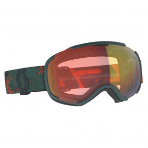Scott Ski Goggle Faze II Sombre Green/Pumpkin Orange Illuminator Red Chrome