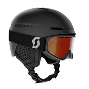 Combo Scott Helmet Track + Goggle Fact Black