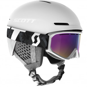 Combo Scott Helmet Track + Goggle Fact White