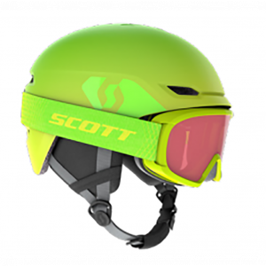 Combo Scott Helmet Keeper 2 + Goggle Witty Jr High Viz Green