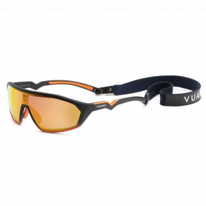 Vuarnet Air 2011 180° Large Noir/Orange HD Rainbow Flashed Bio Nylon