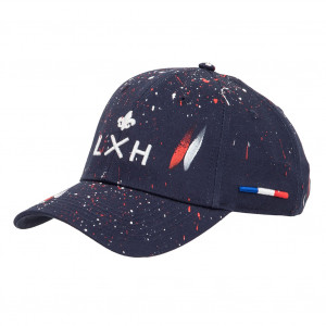 "LXH Cotton Cap ""LXH'Art - The French Touch"" Navy Blue White/Red"