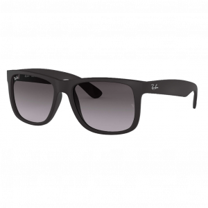 Ray-Ban Justin Rubber Black Gris Dégradé