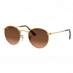 Ray-Ban Round Metal Bronze Rose Dégradé Brun