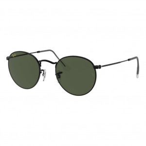 Ray-Ban Round Metal Black Green Classic G-15