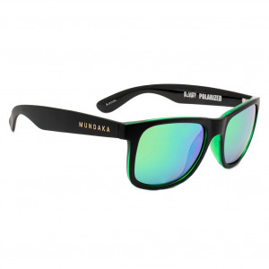 Mundaka Bloody Black & Green - Green Revo Polarized