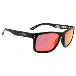 Mundaka Pozz Matte Black Smoke Red Revo Polarized
