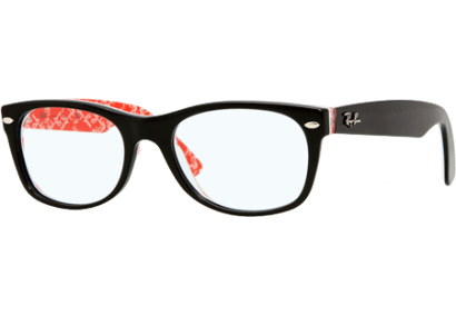 Ray-Ban New Wayfarer Rx Black/Red Texture