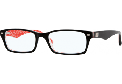 Ray-Ban RX5206 Black/Red Texture