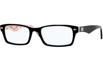 Ray-Ban RX5206 Top Black on Texture White