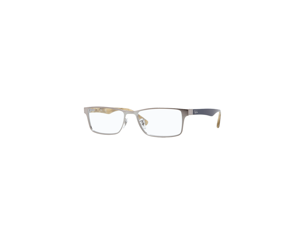 8b022ee17c Ray Ban Eyeglasses Frames For Men Rx6238 Brushed Gunmetal 2553 ...
