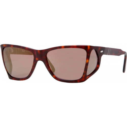 Persol 0009 Sandblast Havana Brown Gold Mirror