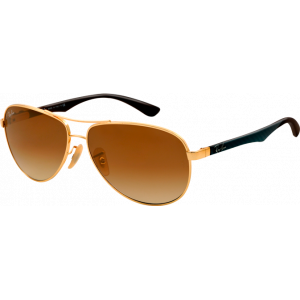 Ray-Ban RB8313 Medium Doré Brun Dégradé