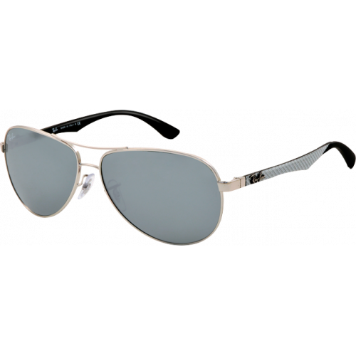Ray-Ban RB8313 Medium Silver Grey Silver Mirror
