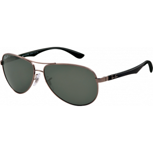Ray-Ban RB8313 Medium Gunmetal Gris Polarisé