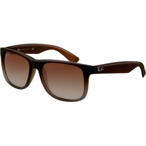 Ray-Ban Justin Rubber Brown Brun Dégradé