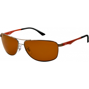 Ray-Ban RB3506 Gunmetal Brown Polarized