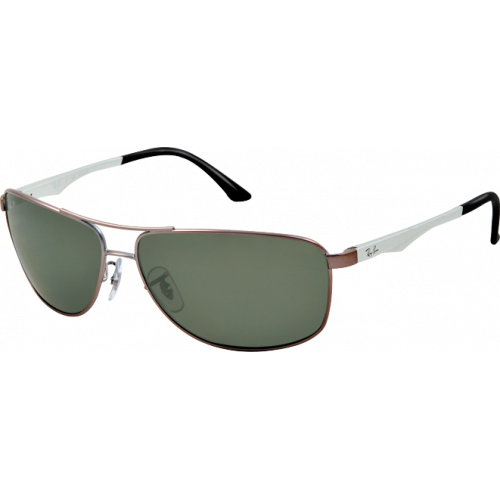 Ray-Ban RB3506 Matte Gunmetal Green Polarized