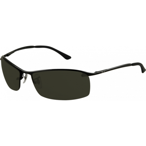 Ray-Ban Top Bar Square Matte Black Grey Green