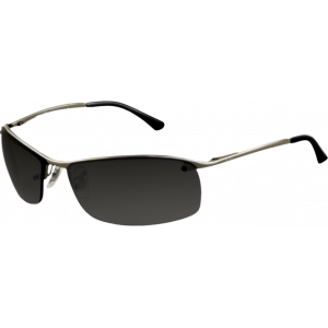 Ray-Ban Top Bar Square Gunmetal Grey Polarized Silver Mirror