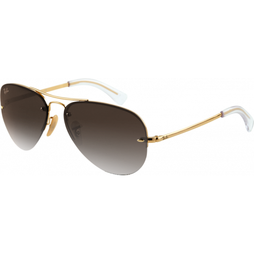 Ray-Ban RB3449 Arista Brun Dégradé