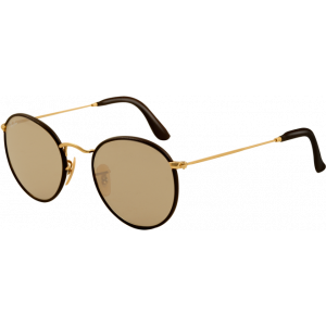 Ray-Ban Round Craft Doré Mat Brun