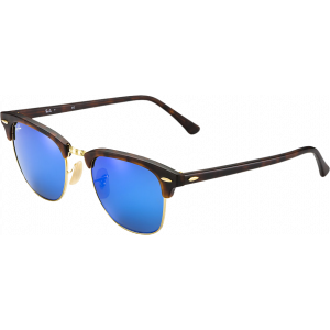Ray-Ban Clubmaster Flash Lenses Red Havana Blue Mirror
