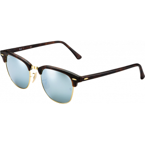 Ray-Ban Clubmaster Flash Lenses Havana Silver Mirror