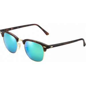 Ray-Ban Clubmaster Flash Large Ecaille/Doré Vert Miroité