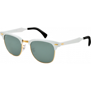 Ray-Ban Clubmaster Aluminium Brushed Silver/Arista Grey Silver Mirror