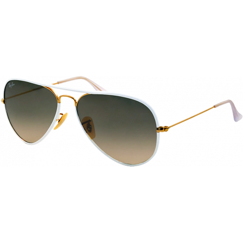 Ray-Ban Aviator Full Color White Grey Gradient