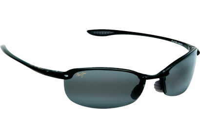 Maui Jim Makaha Shiny Black Neutral Grey Polar+