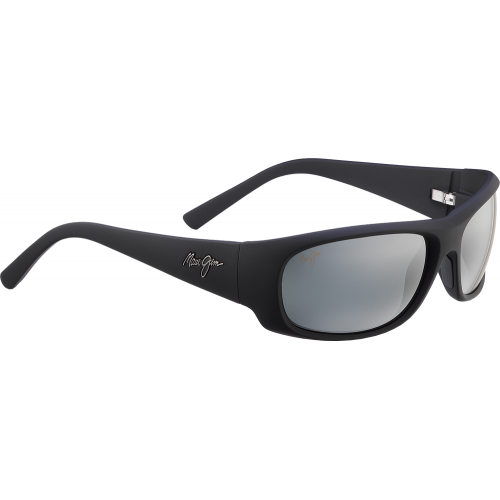 Maui Jim Ikaika Matte Black Rubber Neutral Grey Polar+