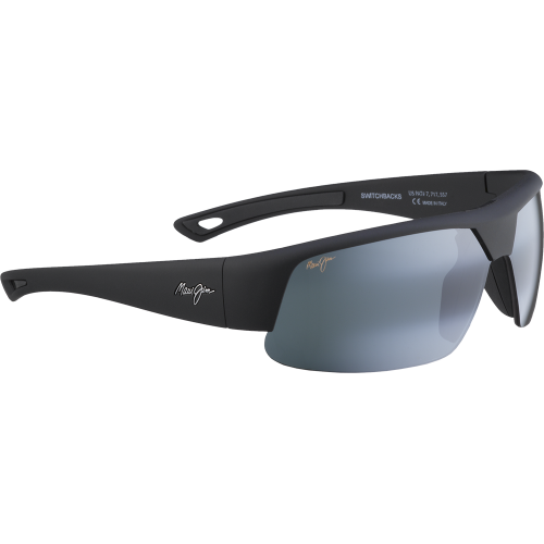 Maui Jim Switchbacks Matte Black Rubber Neutral Grey Polar+
