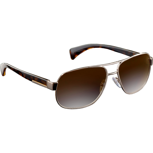 Prada SPR52P Light Gold Brown Gradient