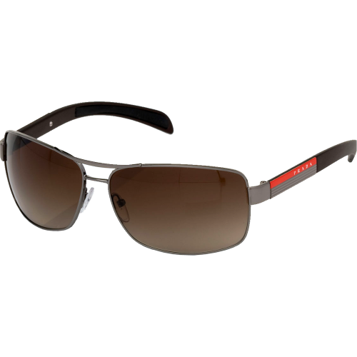 Prada SPS54I Gunmetal Brown Gradient