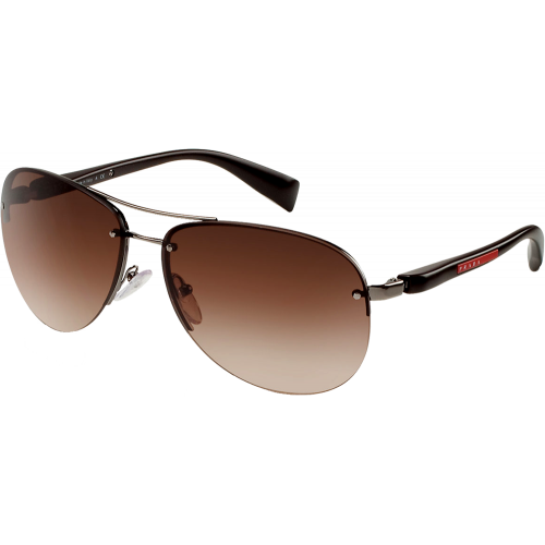70581d672f3 Prada SPS56M Gunmetal Brown Gradient - Fashion Designer Sunglasses